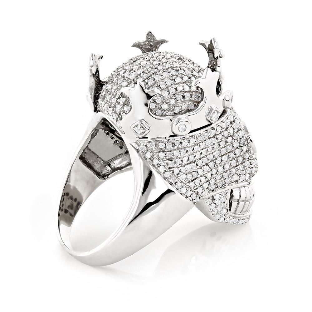 Real Hip Hop Jewelry: Mens Diamond Skull Ring 10K Gold ...