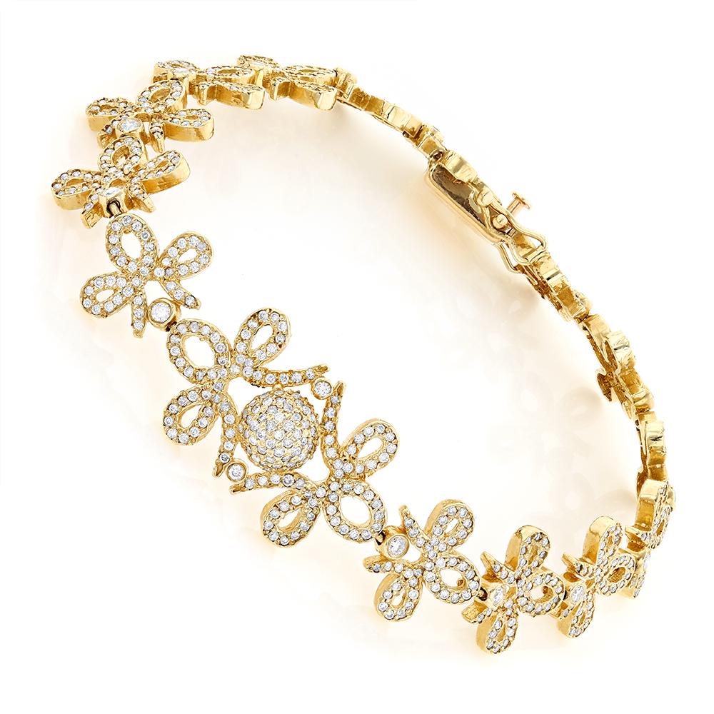 14k gold designer ladies diamond bracelet. Black Bedroom Furniture Sets. Home Design Ideas