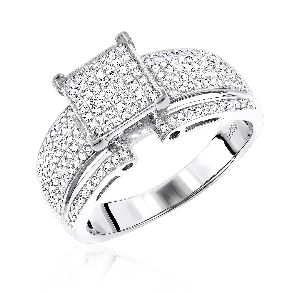sterling silver diamond engagement ring. Black Bedroom Furniture Sets. Home Design Ideas